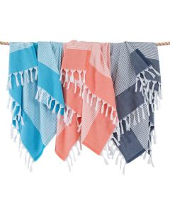 Elegant Thin Stripe Pestemal Beach Towel