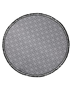 Manami Round Pestemal Beach Towel - Black/White