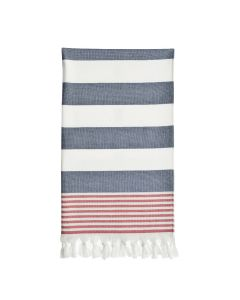 Patriotic Pestemal Beach Towel - Ocean Blue